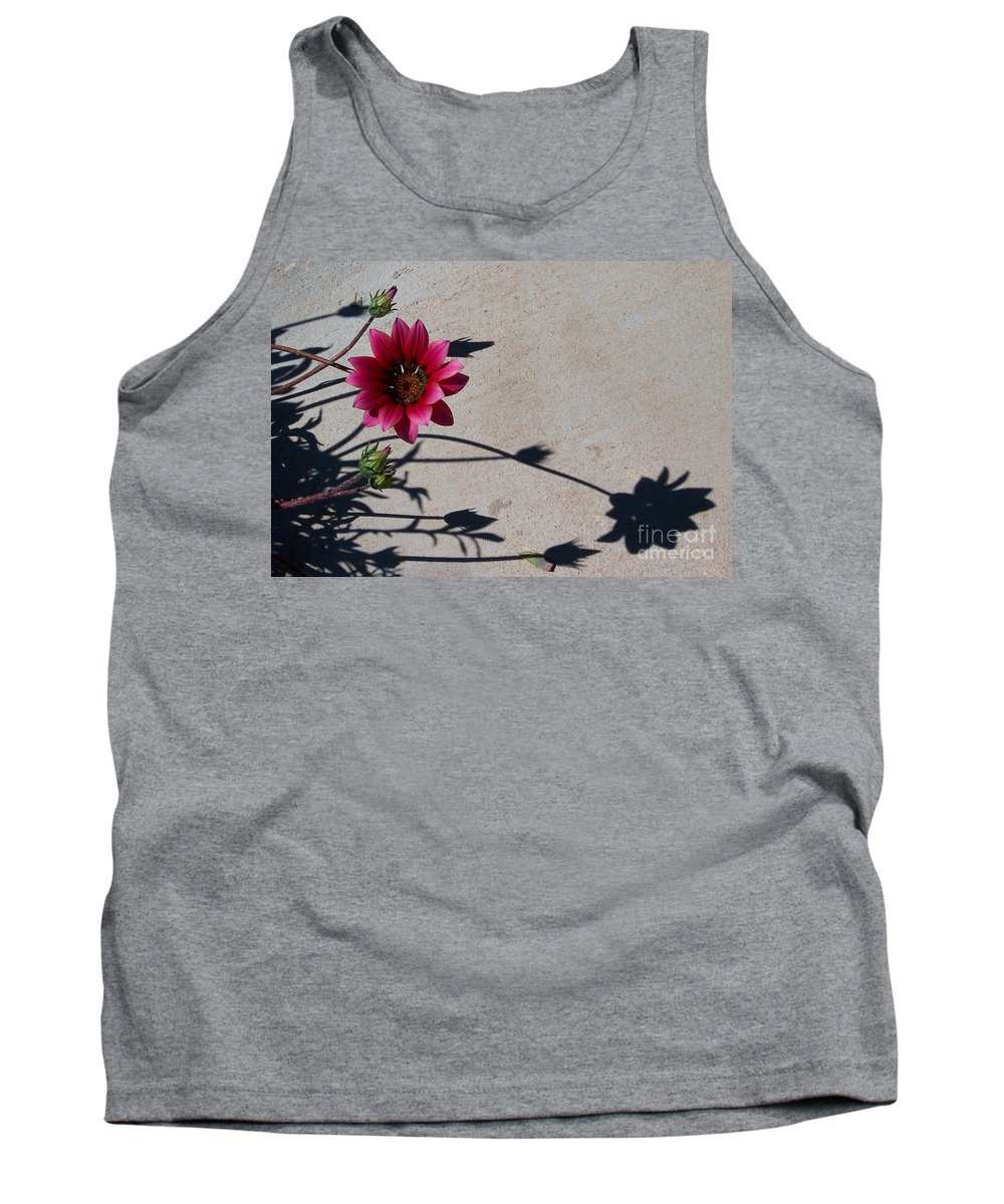 Flowers Tank Top featuring the photograph Me And My Shadow by Kathy McClure