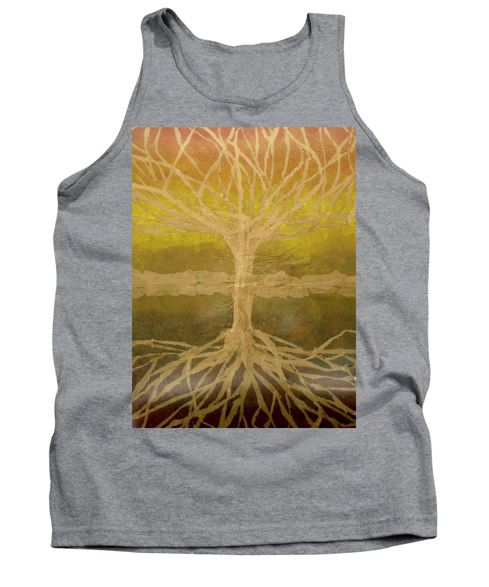 Abstract Tank Top featuring the painting Meditation by Leah Tomaino
