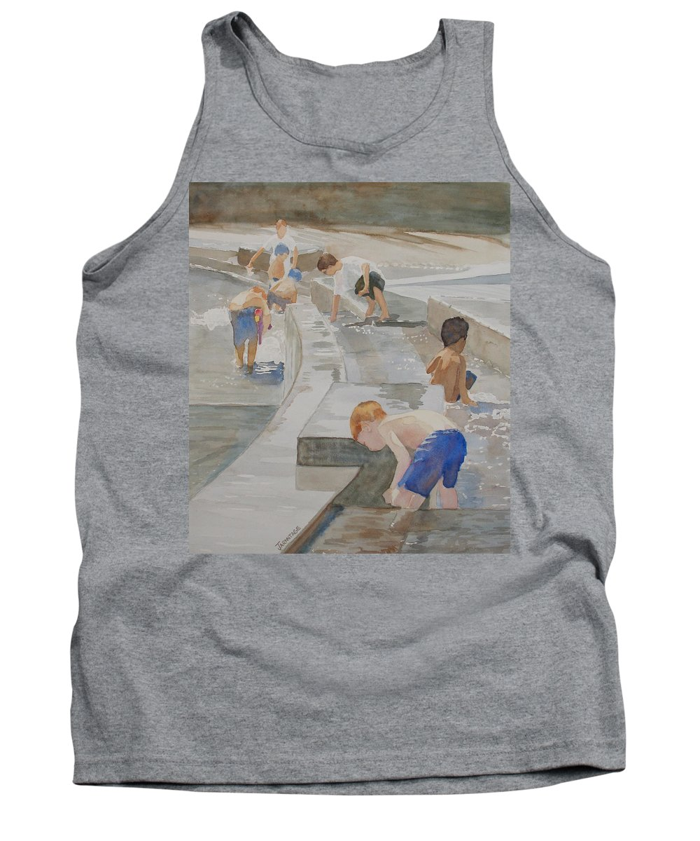 Boys Tank Top featuring the painting Memorial Day Waterworks by Jenny Armitage