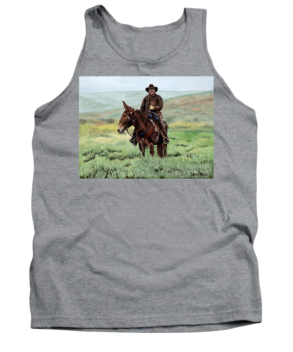 Usa Tank Top featuring the painting Memories Of Molly by Mary Rogers
