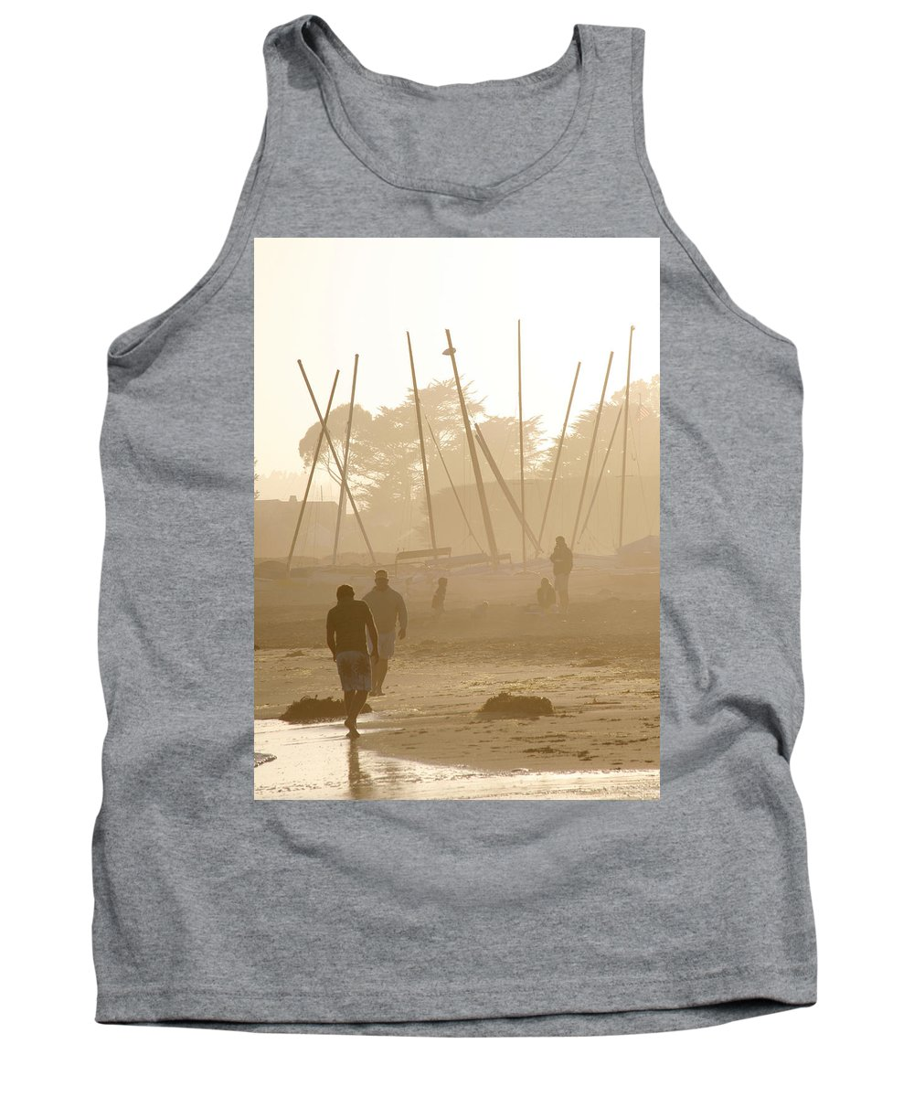 Americana Tank Top featuring the photograph Men And Marina by Marilyn Hunt
