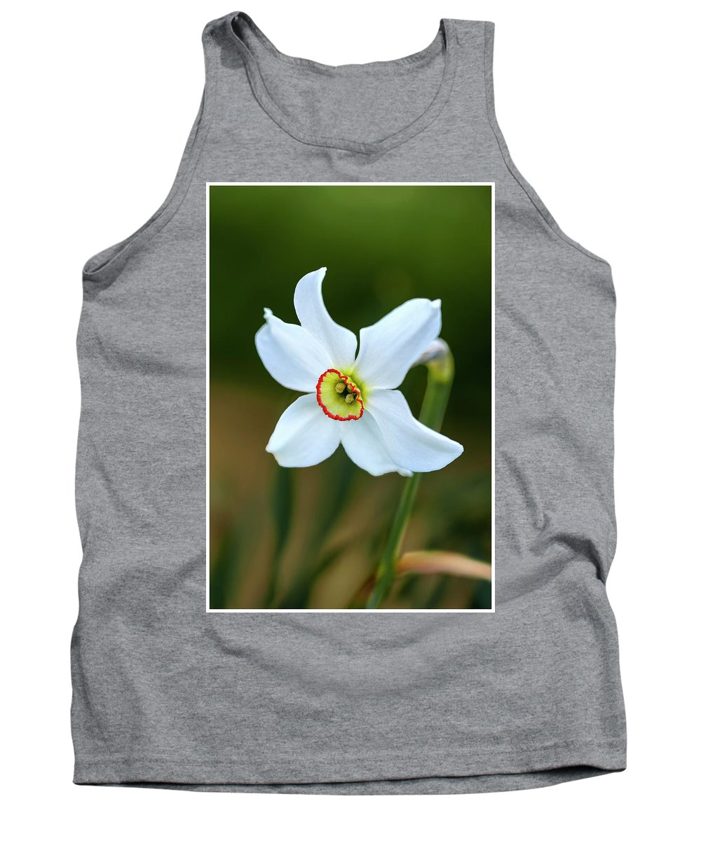Flower Tank Top featuring the photograph Merlin by John Fotheringham