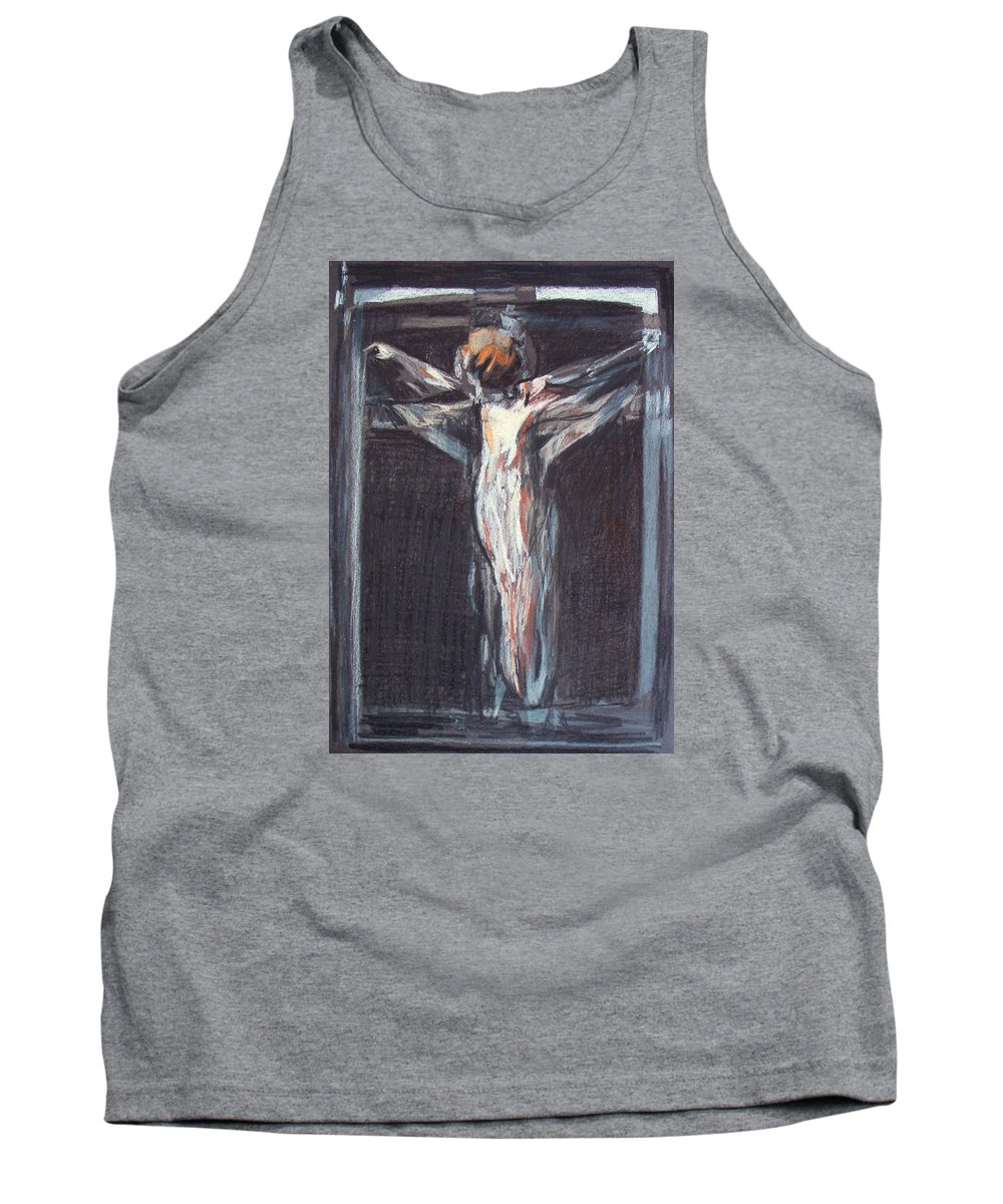 Crucifixion Tank Top featuring the painting Mhc #100105 by John Warren OAKES