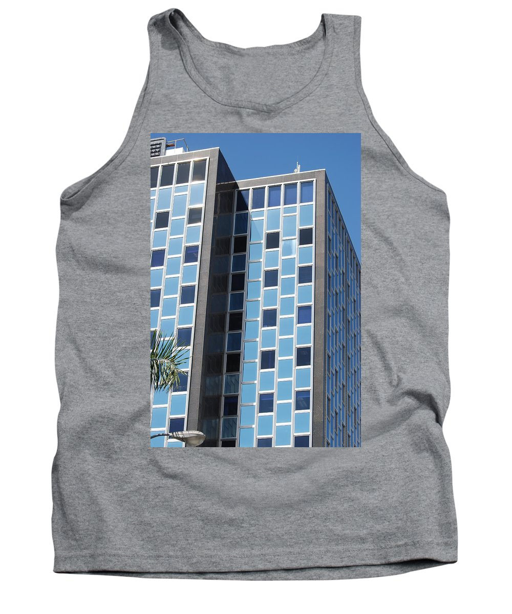 Architecture Tank Top featuring the photograph Miami Checker Board by Rob Hans