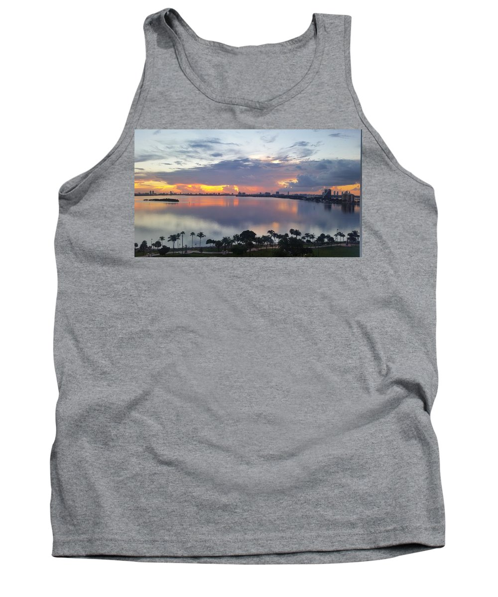 Tank Top featuring the photograph Miami Sunrise Part 1 by Barbie Armada