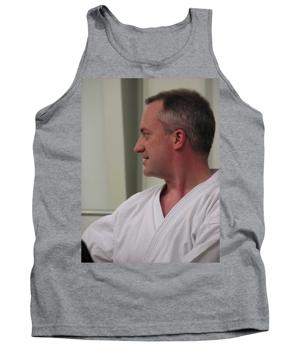 Karate Tank Top featuring the photograph Michael by Kelly Mezzapelle