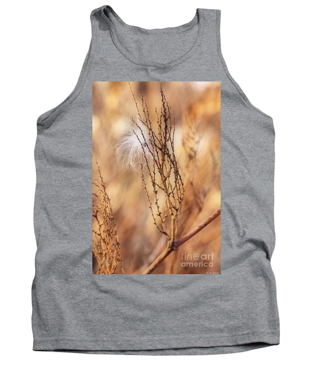 Milkweed Tank Top featuring the photograph Milkweed In The Breeze by Deborah Benoit