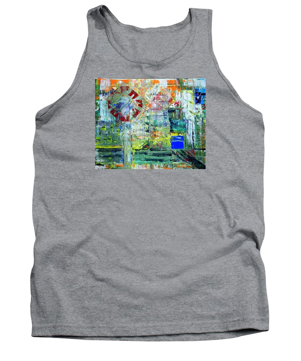 Abstract Tank Top featuring the painting Milton Place by J R Seymour