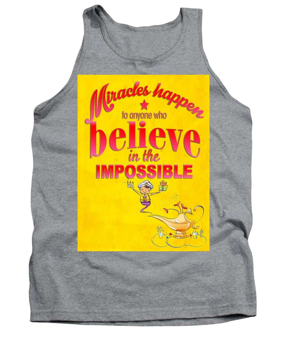 Comics Tank Top featuring the digital art Miracles Happen by Don Kuing