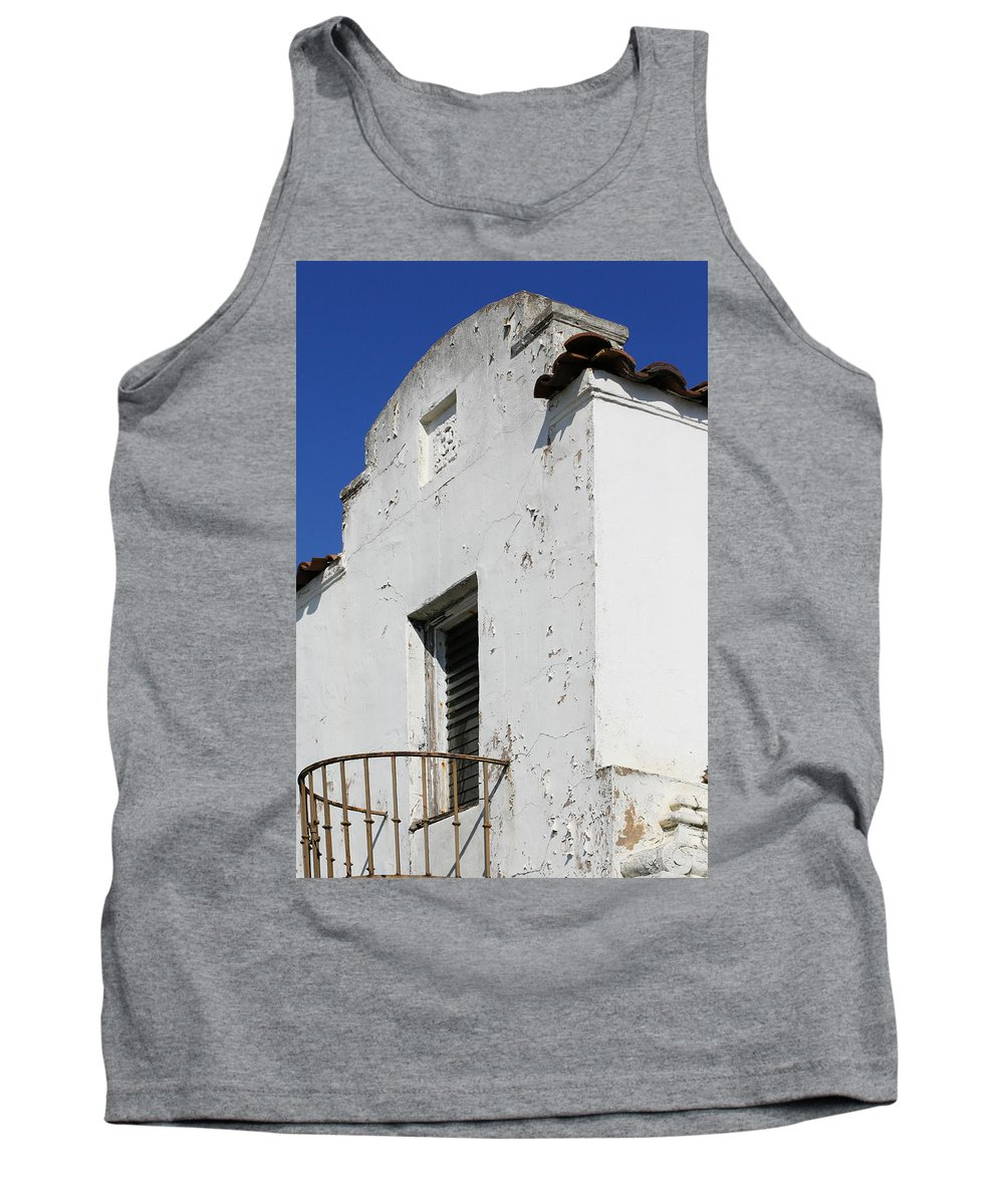 Mission Tank Top featuring the photograph Mission Style Architecture by Marilyn Hunt