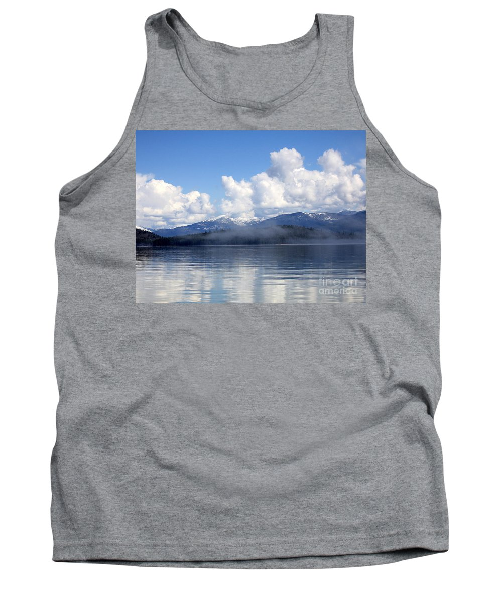 Priest Lake Tank Top featuring the photograph Mist Over Priest Lake by Carol Groenen