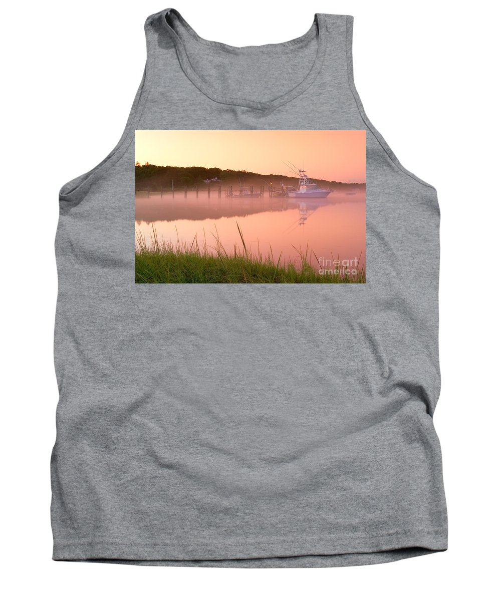 Mist Tank Top featuring the photograph Misty Morning Osterville Cape Cod by Matt Suess