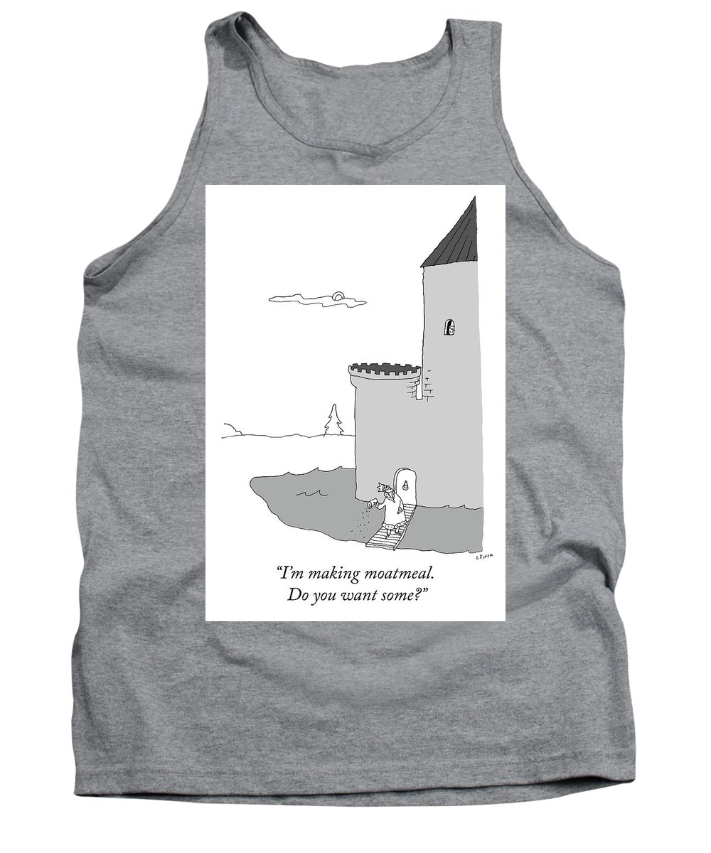 """""""i'm Making Moatmeal. Do You Want Some?"""" Tank Top featuring the digital art Moatmeal by Liana Finck"""