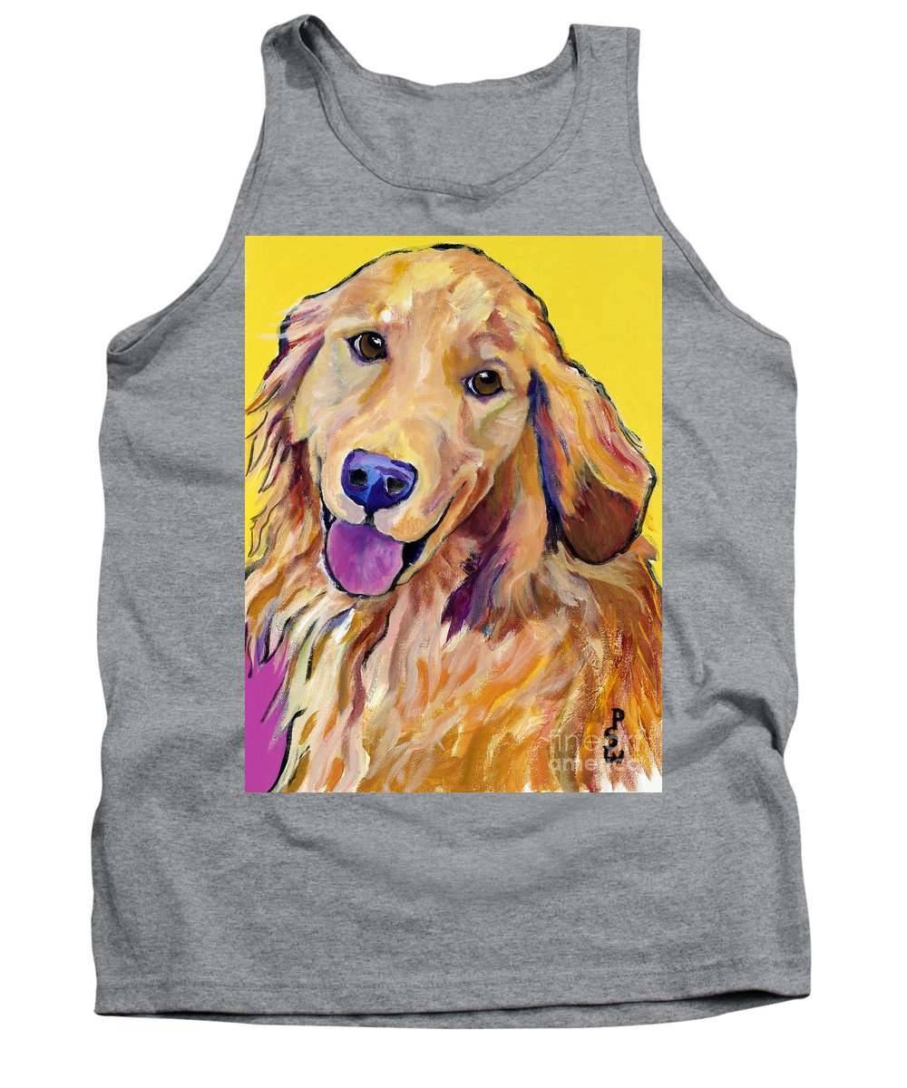 Acrylic Paintings Tank Top featuring the painting Molly by Pat Saunders-White