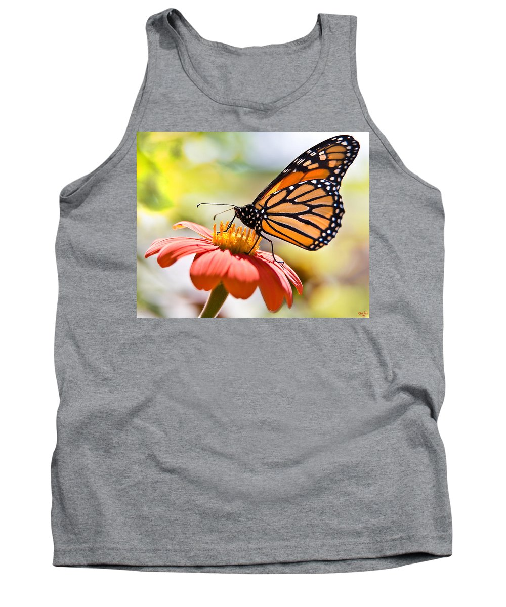 Butterfly Tank Top featuring the photograph Monarch Butterfly by Chris Lord