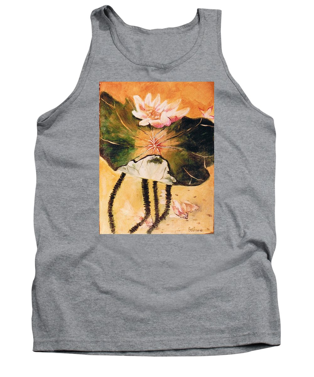 Monet's Water Lily Tank Top featuring the painting Monet's Water Lily by Seth Weaver