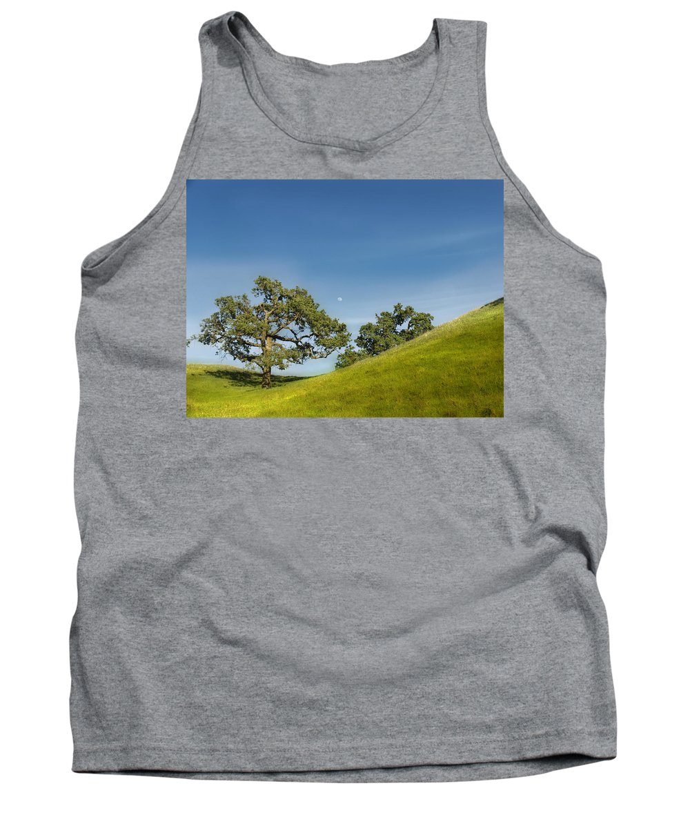 Landscape Tank Top featuring the photograph Moon Rising by Karen W Meyer