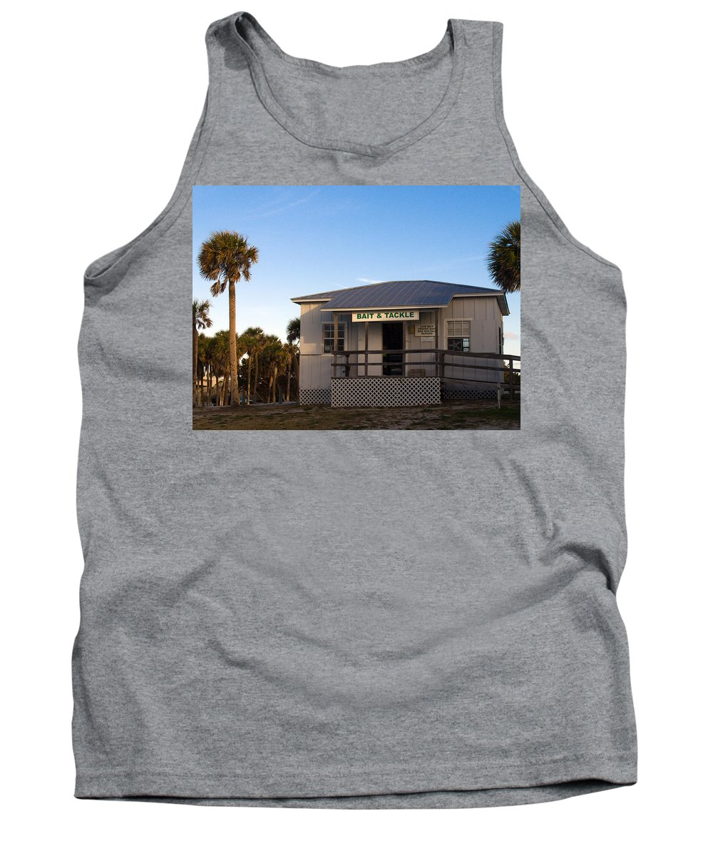 Morning Tank Top featuring the photograph Morning At Sebastian Inlet In Florida by Allan Hughes