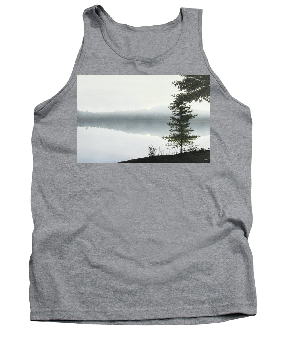 Landscapes Tank Top featuring the painting Morning Fog by Kenneth M Kirsch