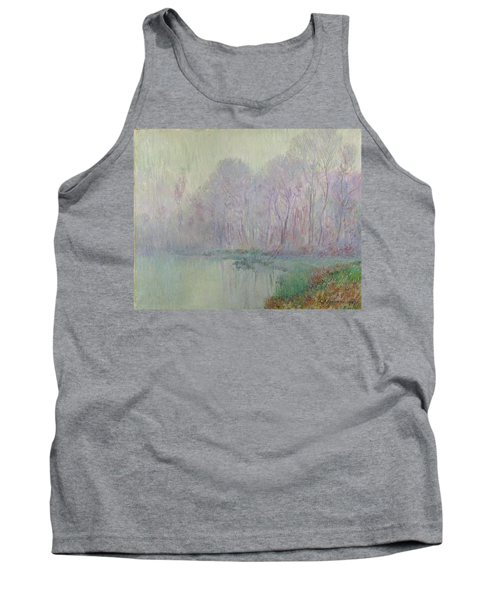 Morning Tank Top featuring the painting Morning Mist by Gustave Loiseau