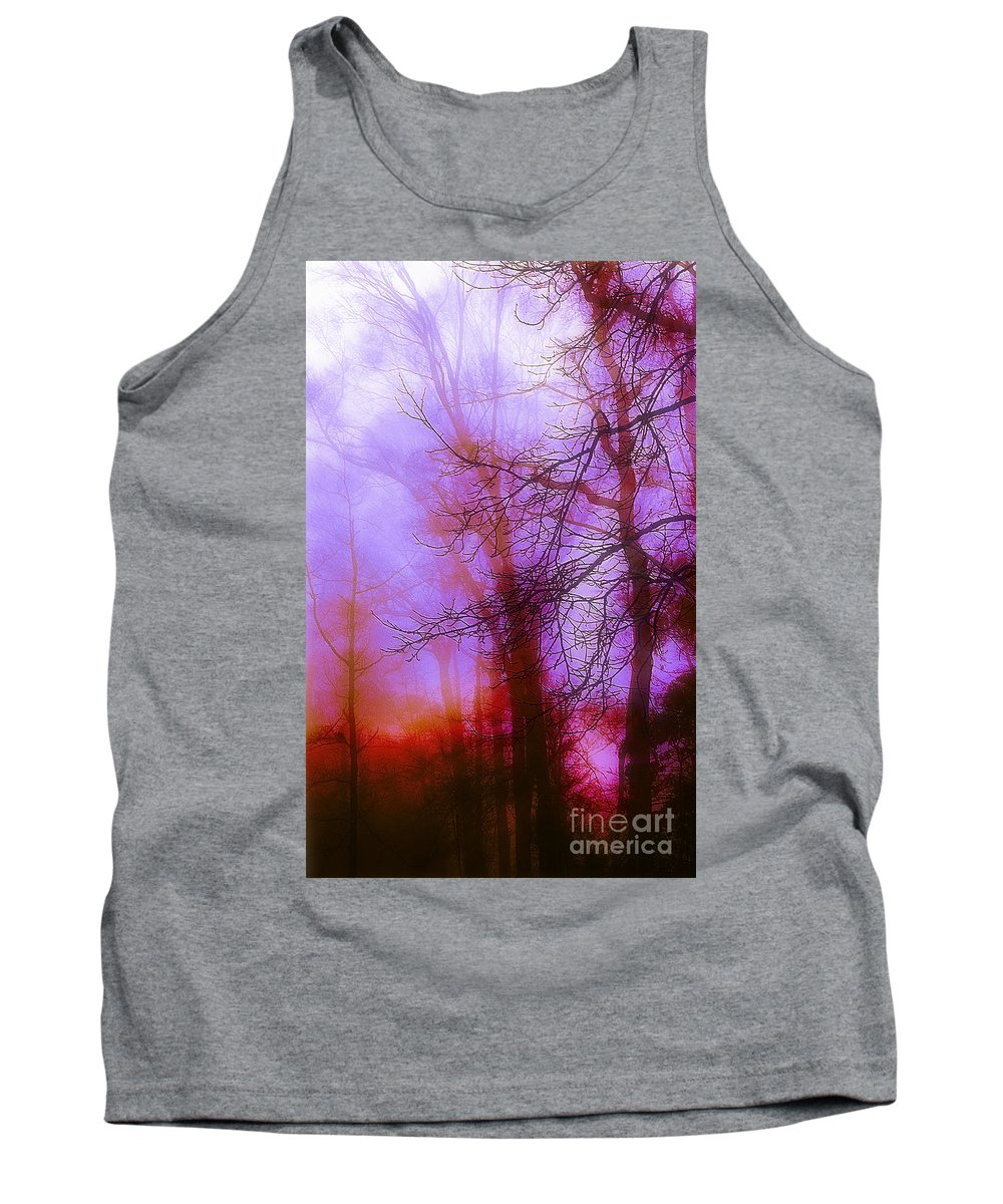 Morning Mist Images Tank Top featuring the photograph Morning Mist by Judi Bagwell
