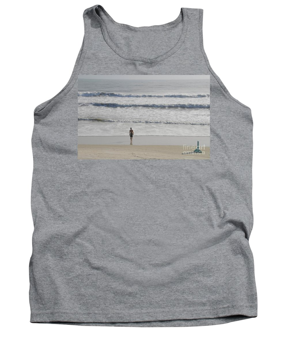 Surfing Tank Top featuring the photograph Morning Surf by David Lee Thompson
