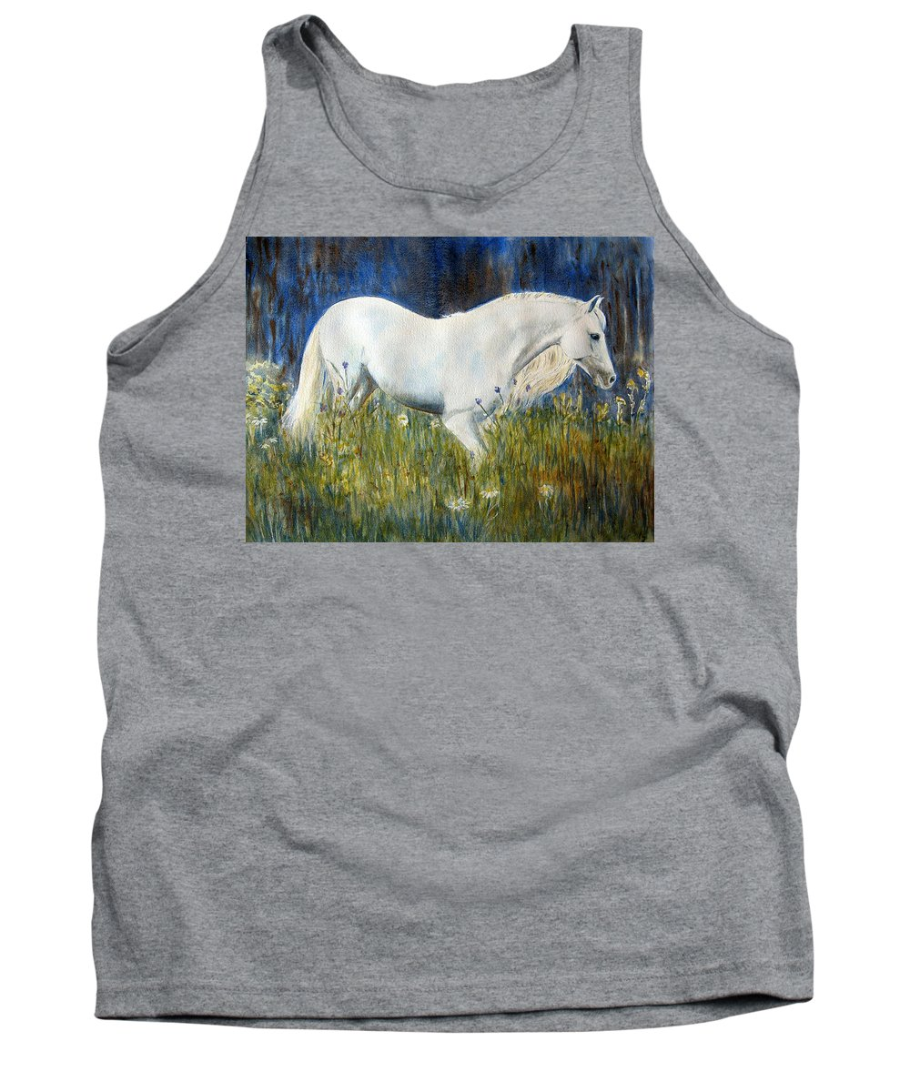 Horse Painting Tank Top featuring the painting Morning Walk by Frances Gillotti