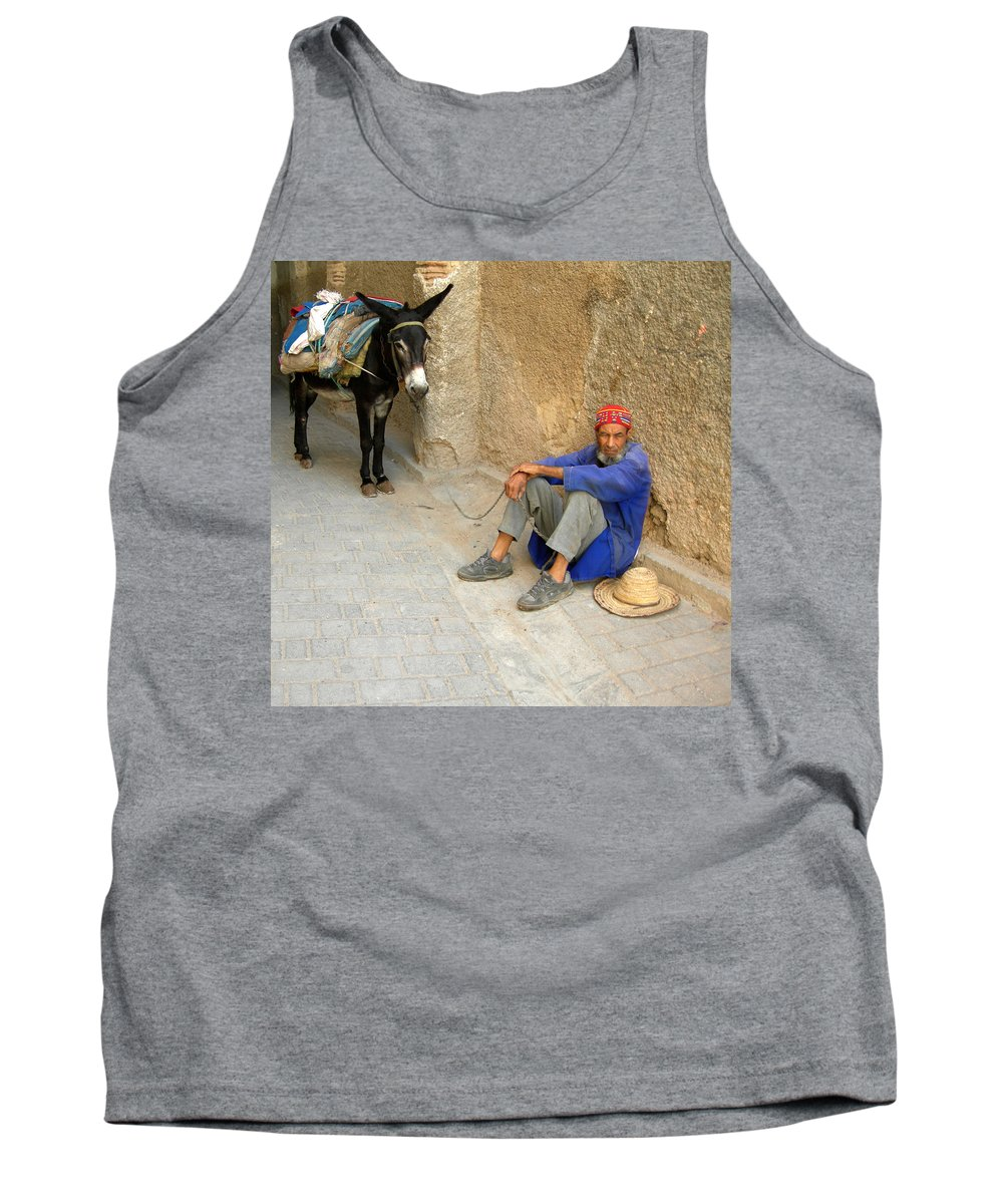 Morocco Tank Top featuring the photograph Moroccan Taxi by Fay Lawrence