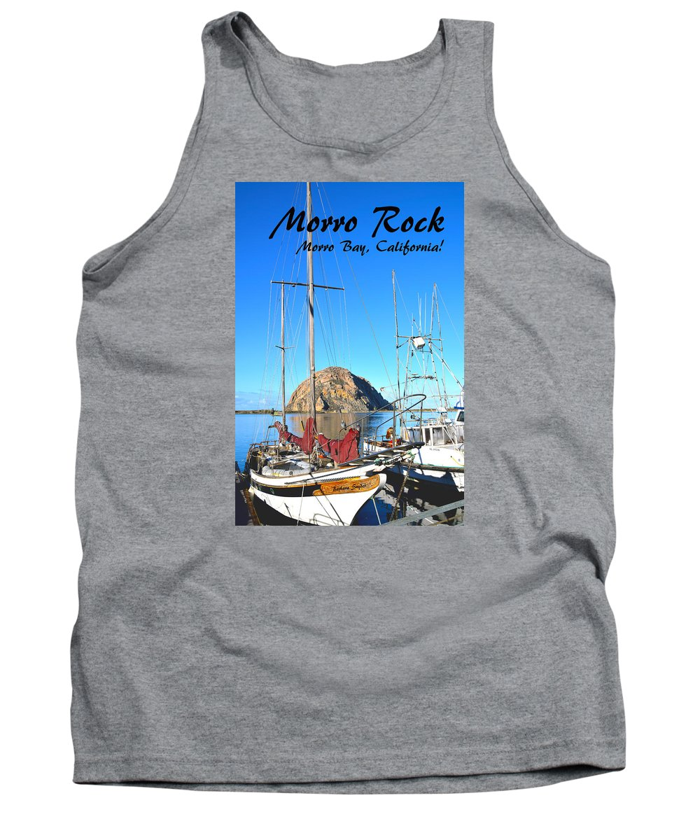 Morro Rock Morro Bay California Tank Top featuring the painting Morro Rock Morro Bay California by Barbara Snyder