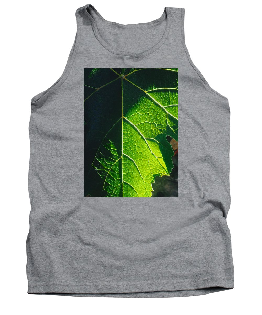 Green Grape Leave Tank Top featuring the photograph Mosaic by Steve Travis