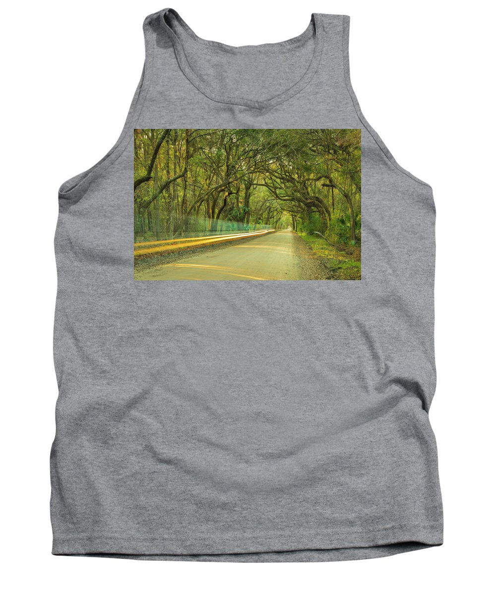 Oak Tank Top featuring the photograph Mossy Oaks Canopy In South Carolina by Ranjay Mitra