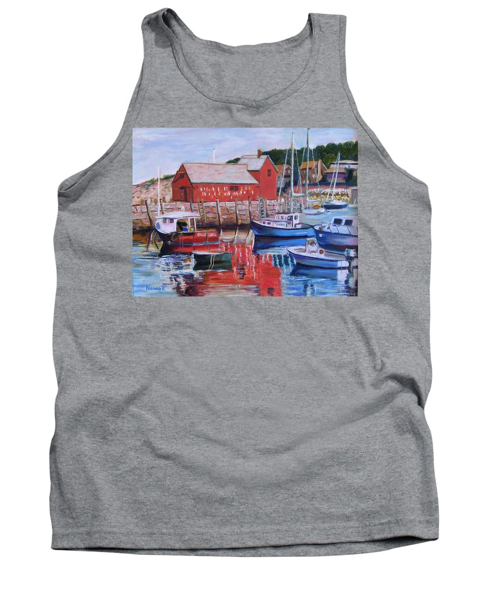 Rockport Tank Top featuring the painting Motif Number One by Richard Nowak