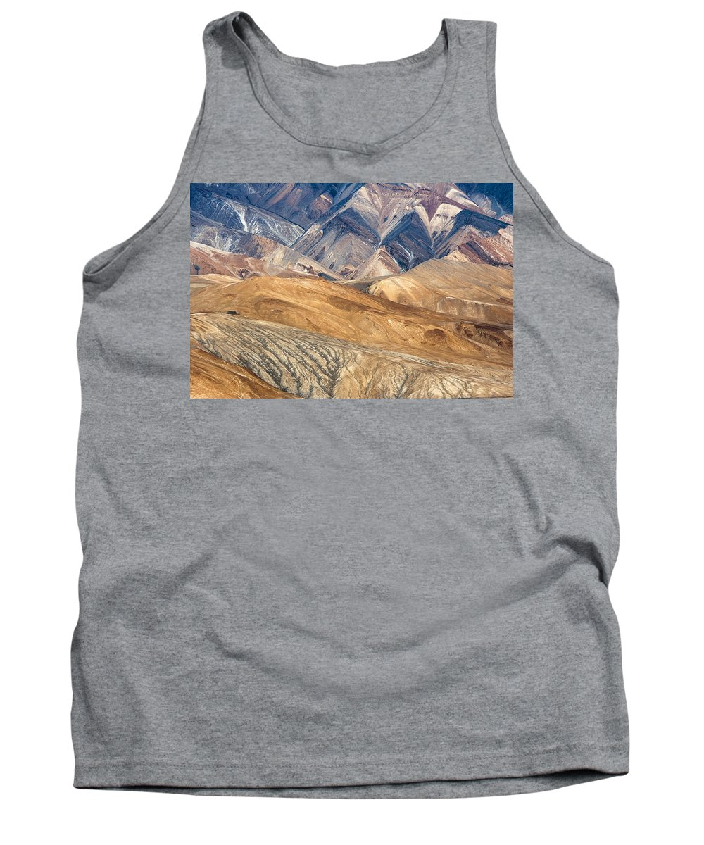 Mountain Tank Top featuring the photograph Mountain Abstract 4 by Hitendra SINKAR