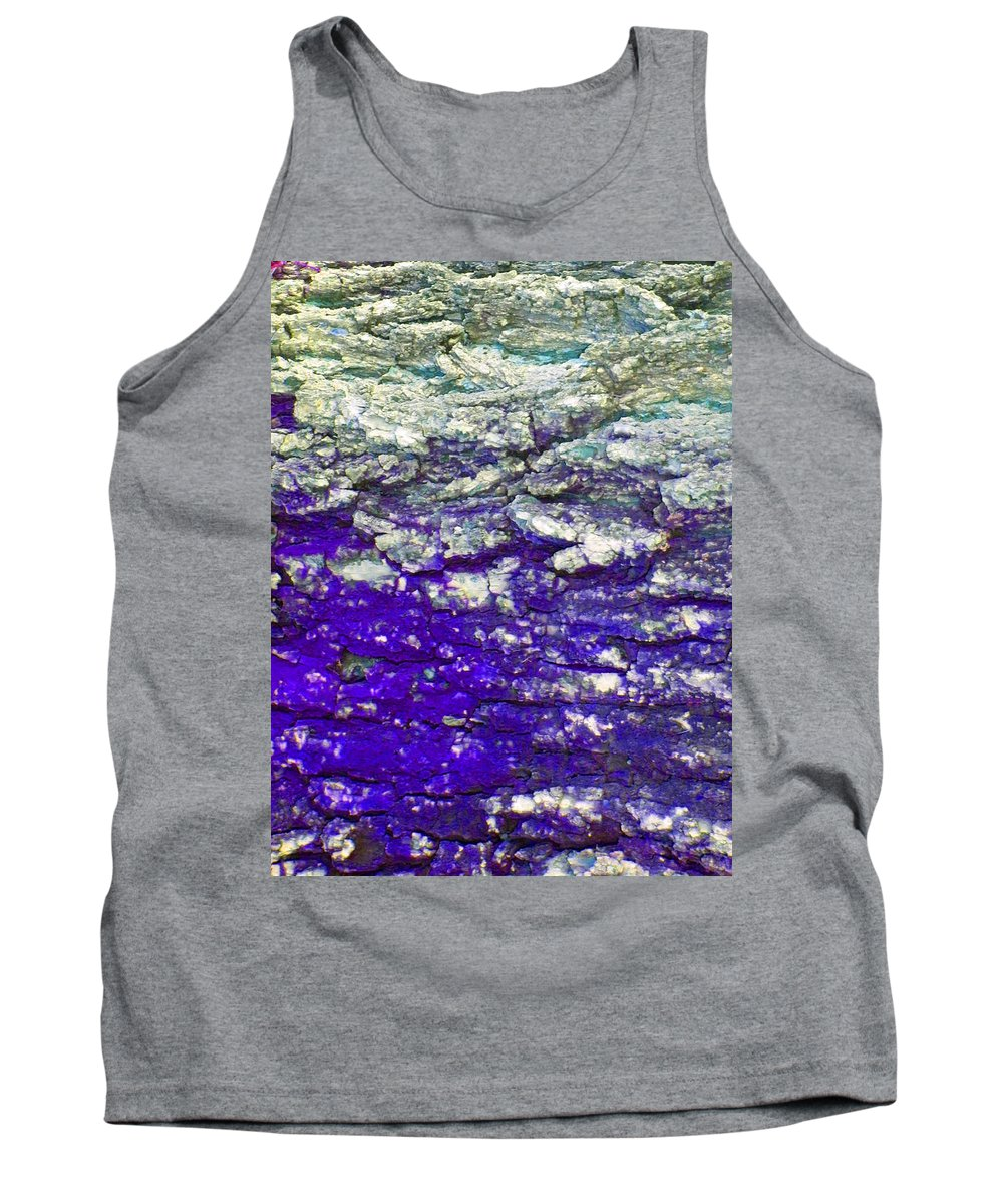 Abstract Tank Top featuring the photograph Mountain Stream by Lenore Senior