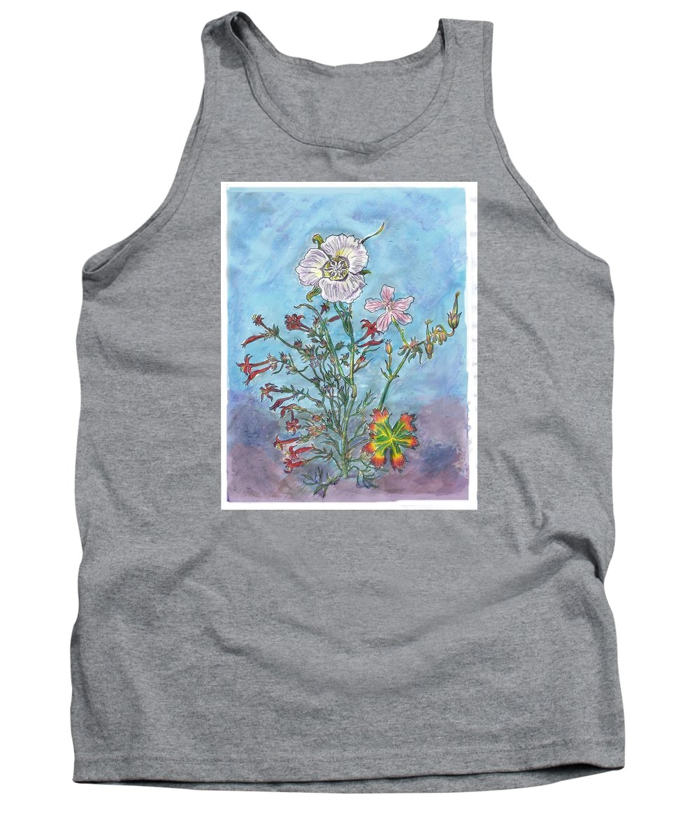 Floral Tank Top featuring the painting Mountain Wildflowers II by Dawn Senior-Trask