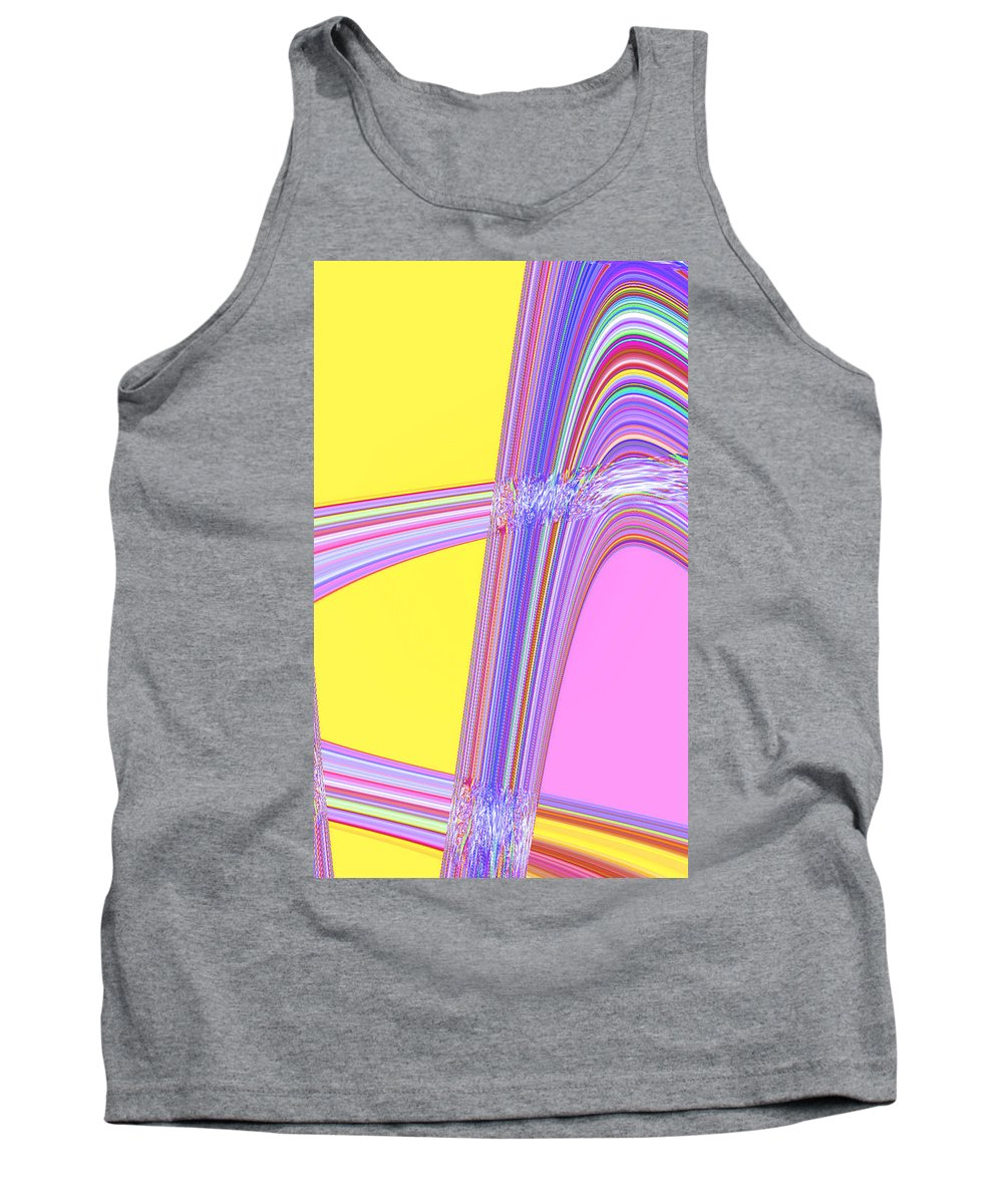Moveonart! Digital Gallery Tank Top featuring the digital art Moveonart Cheer Me Up Wave by Jacob Kanduch