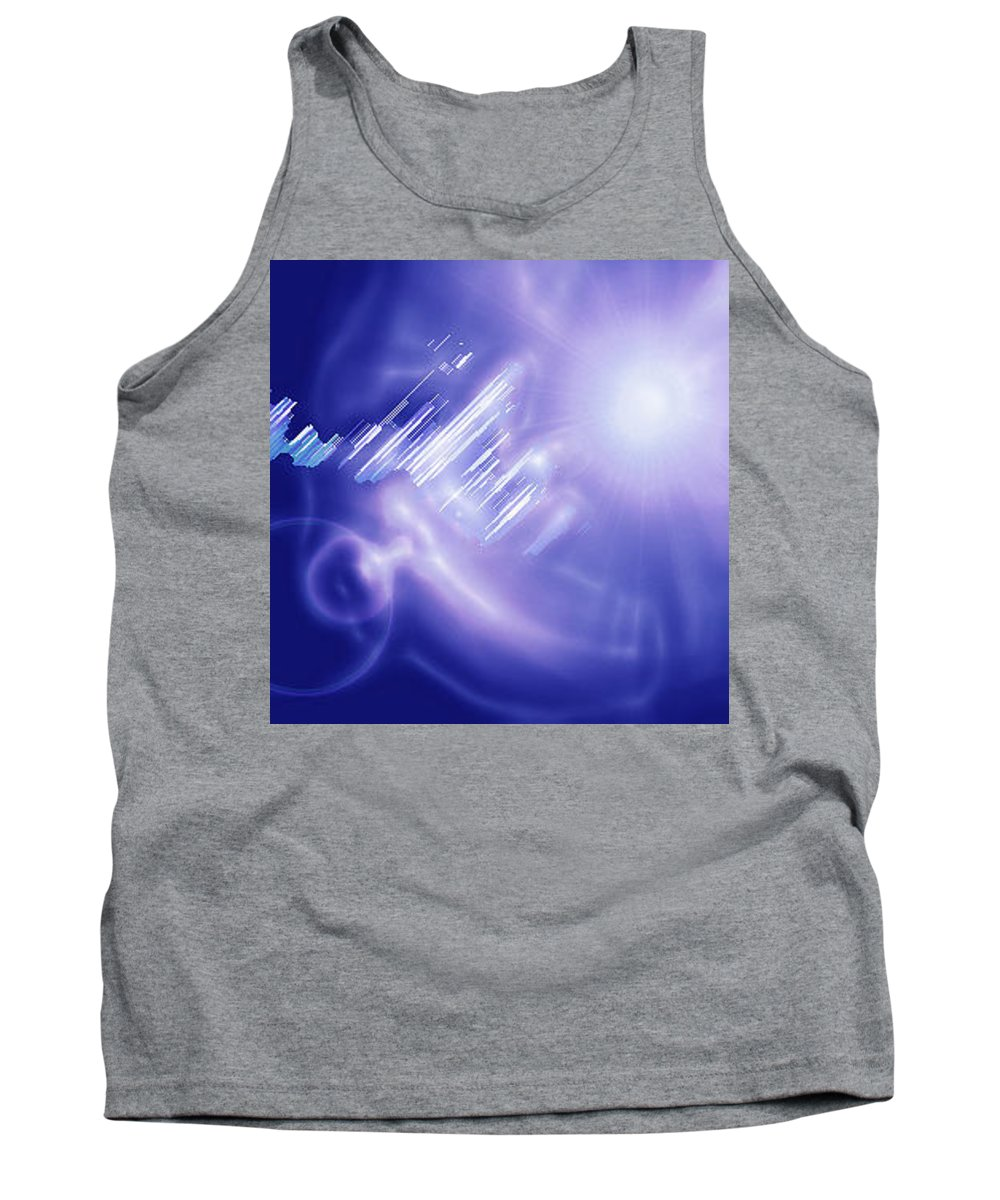 Moveonart! Digital Gallery Tank Top featuring the digital art Moveonart Mysterious Crystal City Coming Down by Jacob Kanduch