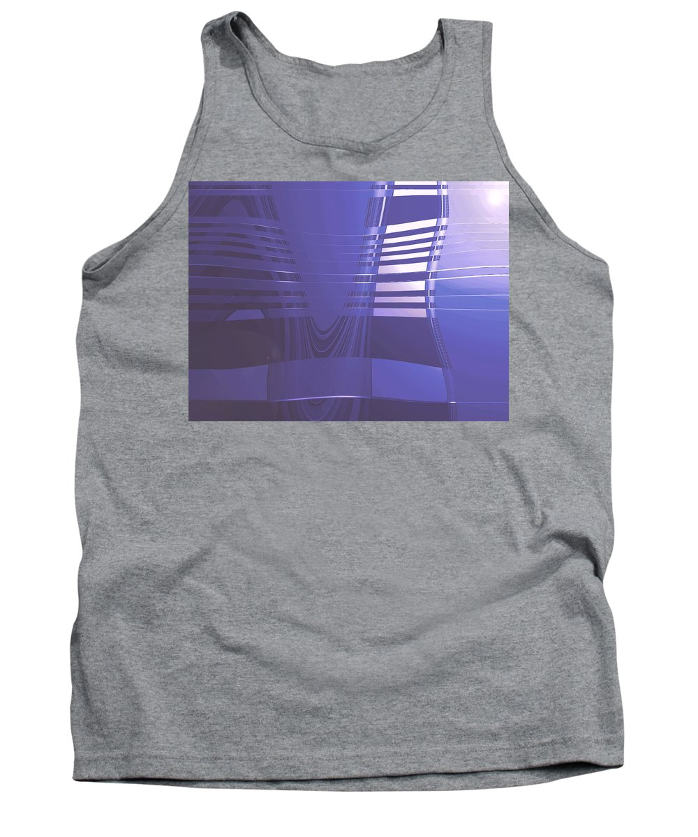Moveonart! Digital Gallery Lower Nob Hill San Francisco California Jacob Kanduch Tank Top featuring the digital art Moveonart New American Indian Architecture 1 by Jacob Kanduch