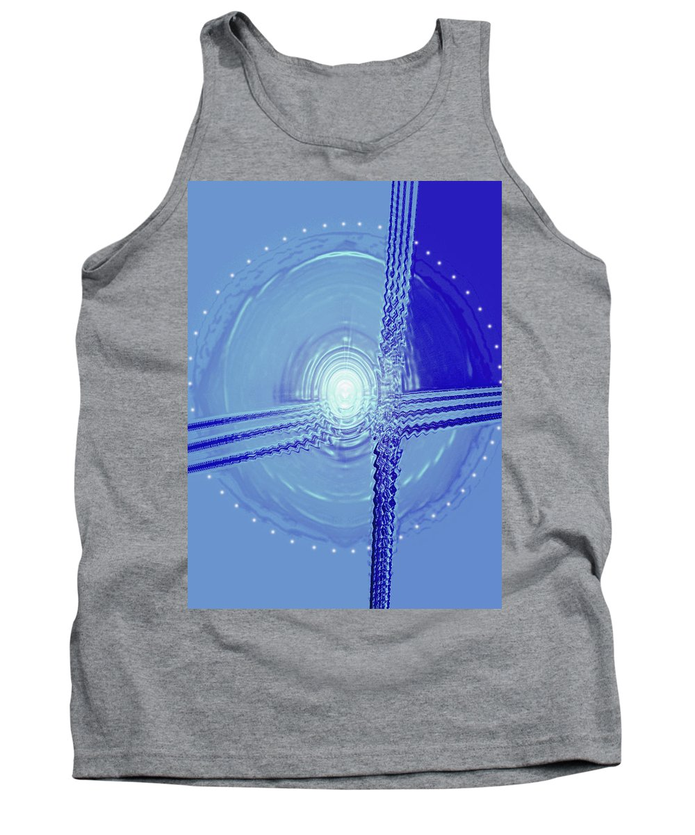 Moveonart! Digital Gallery Tank Top featuring the digital art Moveonart Shift In Time Four by Jacob Kanduch