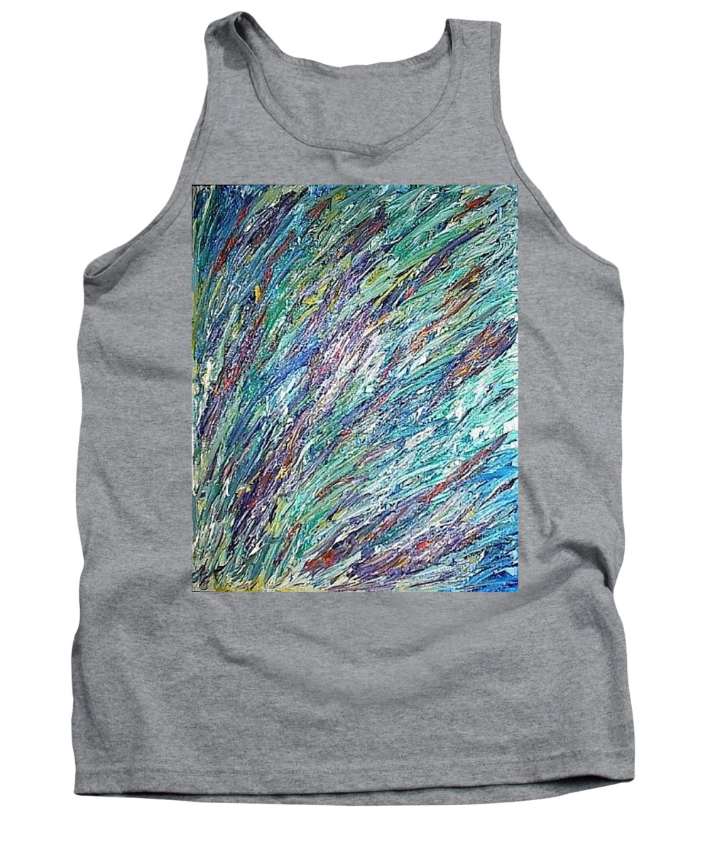 Moveonart! Digital Gallery Tank Top featuring the painting Moveonart Spring In San Francisco by Jacob Kanduch