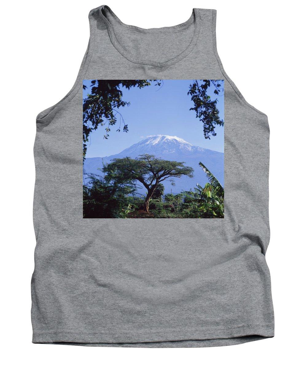 Photographic Tank Top featuring the photograph Mt. Kilimanjaro,moshi,tanzania by David Constantine