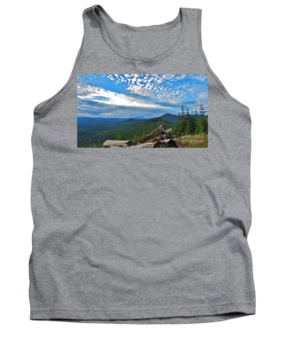 Mt. St. Helens Tank Top featuring the photograph Mt. St. Helens And Red Mountain by Mel Manning