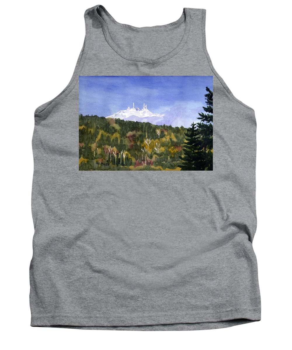 Landscape Tank Top featuring the painting Almost Mystical by Sharon E Allen