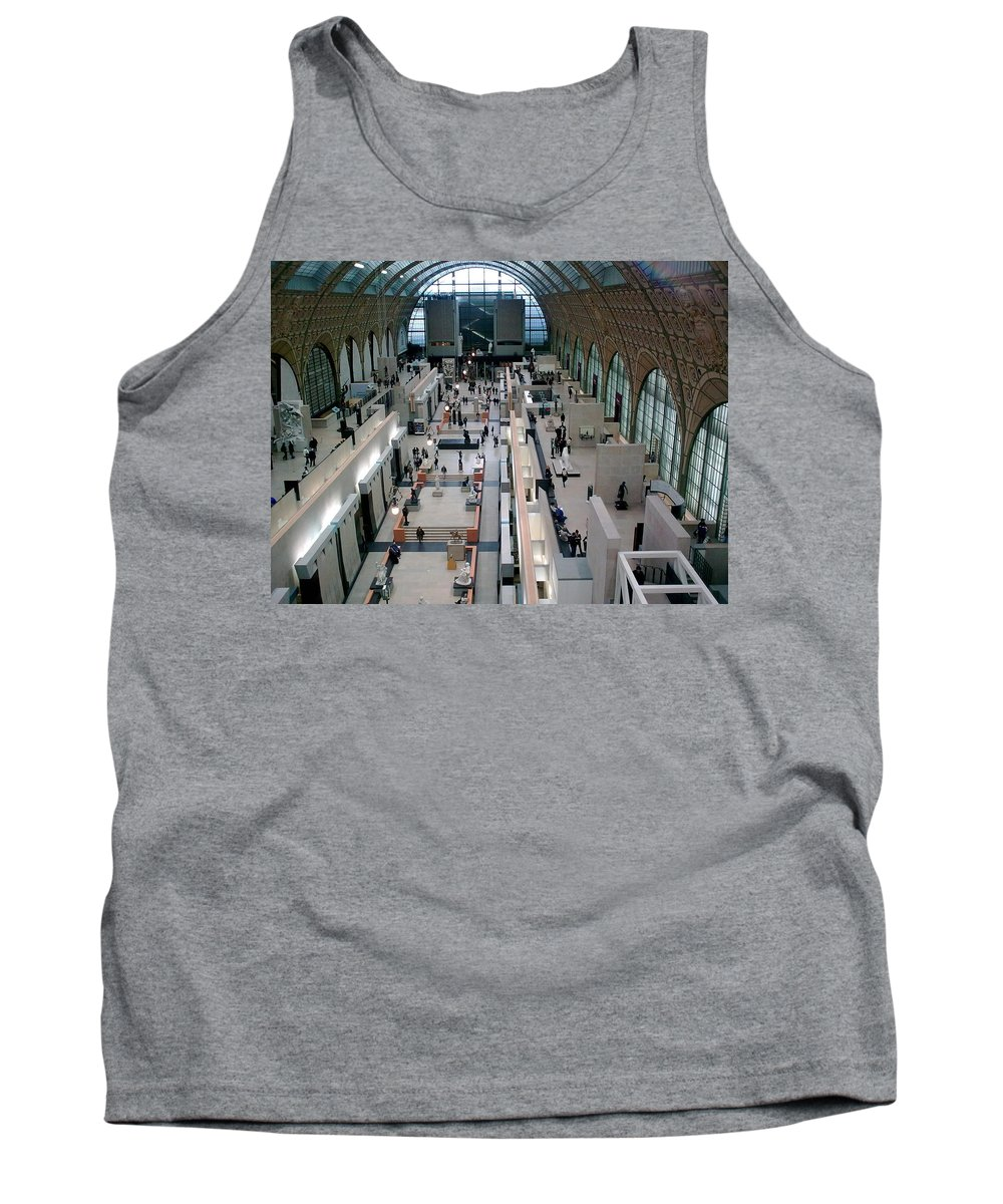 Museum Tank Top featuring the photograph Museum D'orsay Paris by Valerie Ornstein