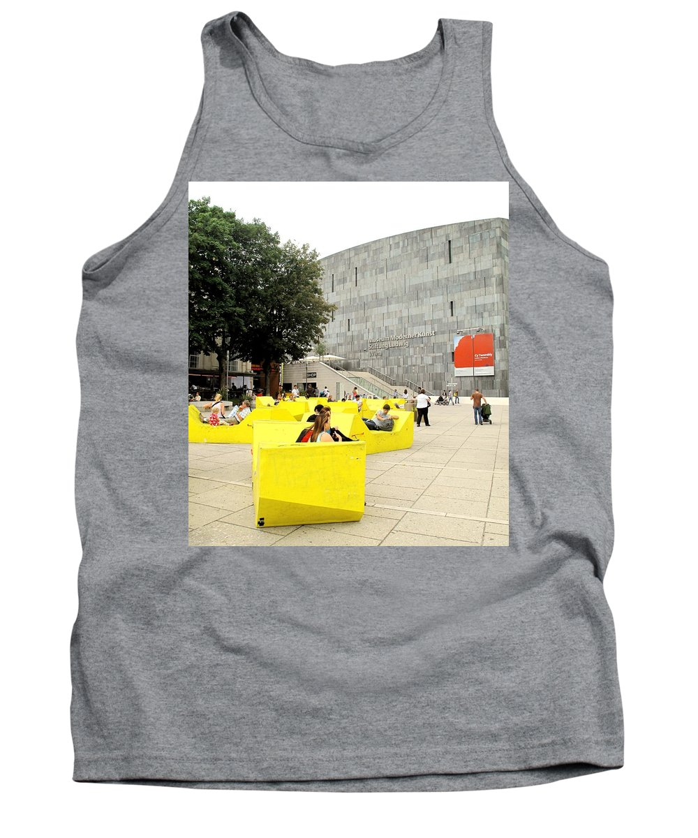 Museum Tank Top featuring the photograph Museum Modener Kunst by Ian MacDonald