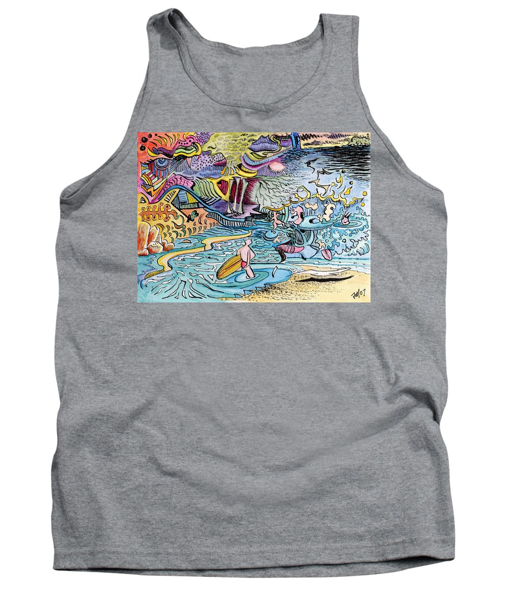Australia; Joe Michelli; Surreal Watercolor Tank Top featuring the painting My Australian Experience by Joe Michelli
