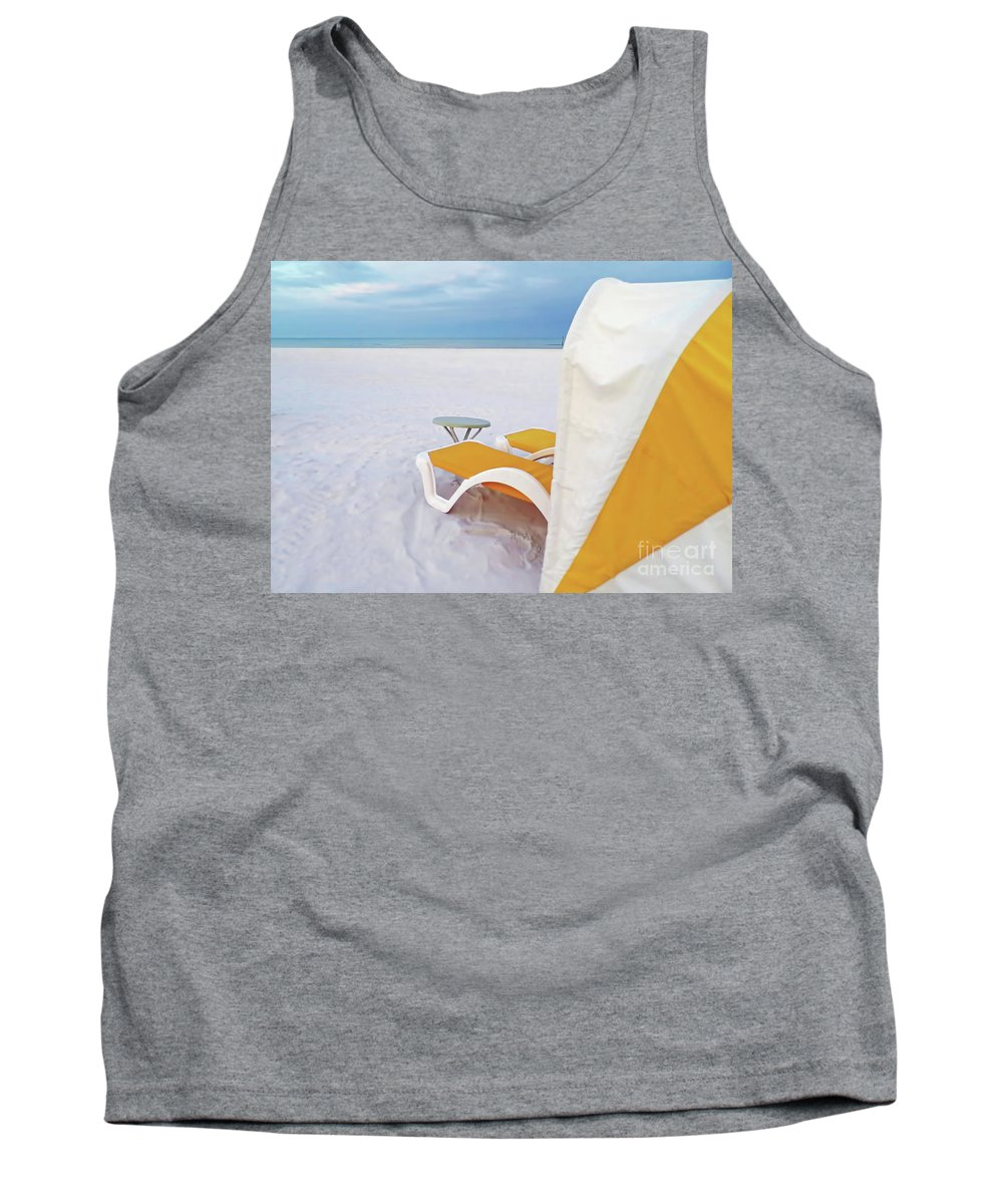 White Sand Tank Top featuring the photograph My Cabana by D Hackett