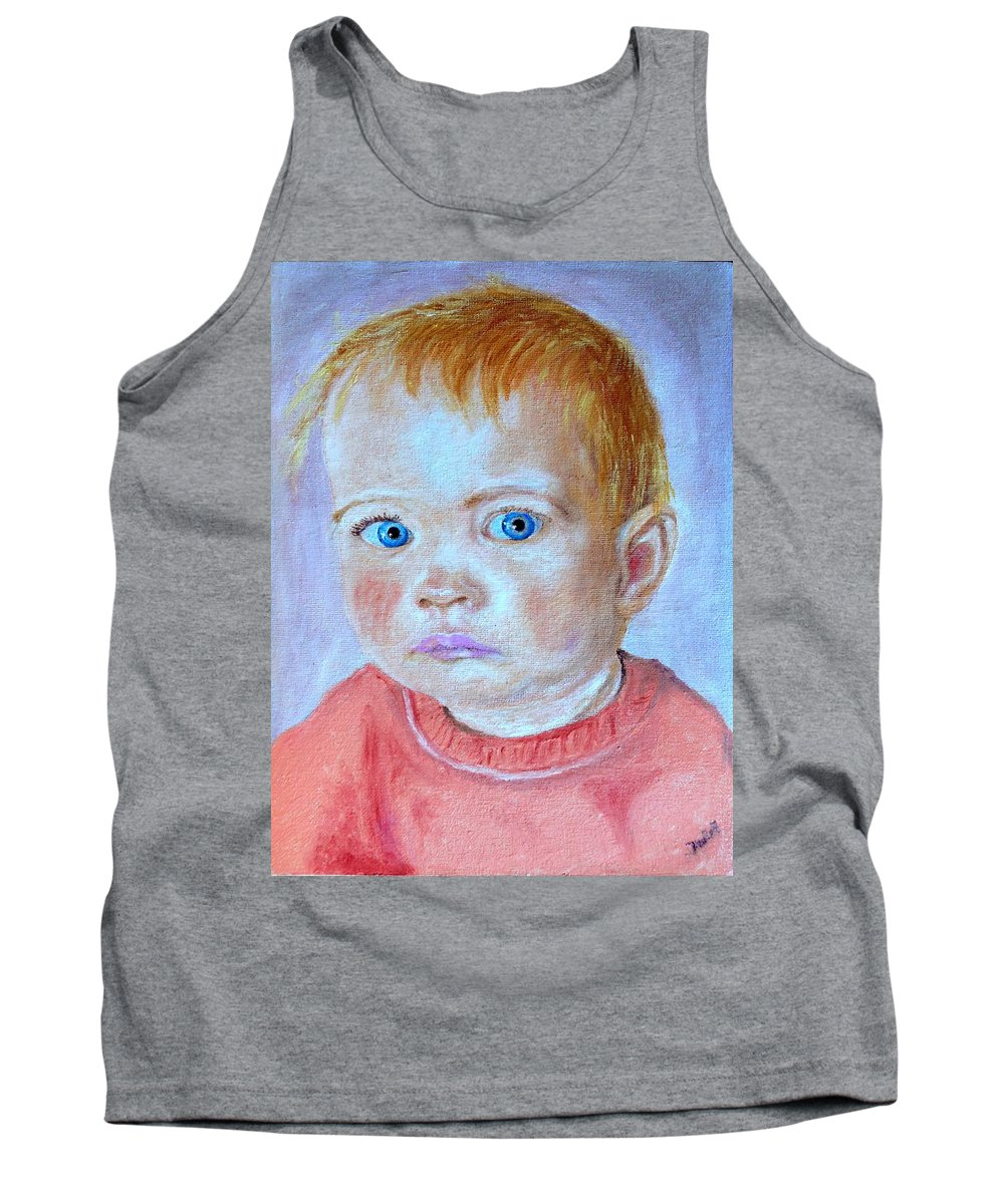 Leonie Tank Top featuring the painting My Granddaughter Leonie by Helmut Rottler