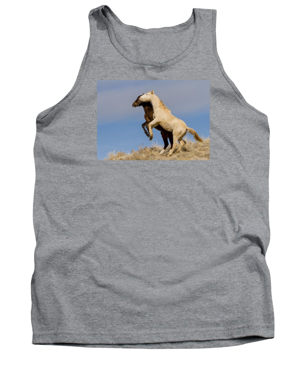 Wild Horse Tank Top featuring the photograph My Shadow by Kent Keller