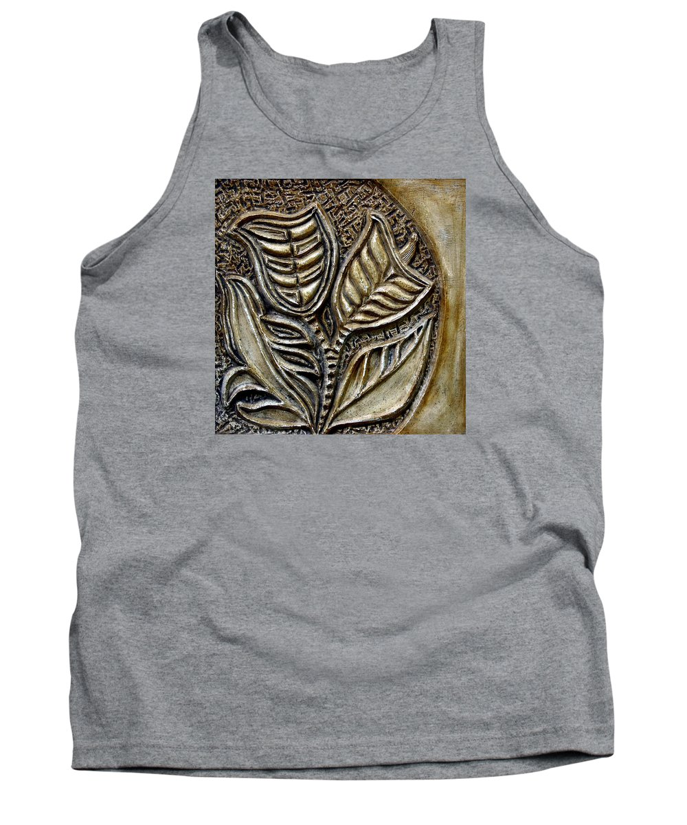 Vintaje Tank Top featuring the relief Vintaje Tile With Calas by Madalena Lobao-Tello